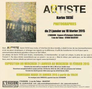flyer exposition autiste-Artiste Karim TATAI Evasion Sélestat
