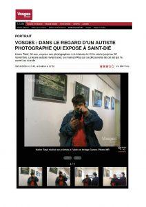 article journal Vosges Matin 3 novembre 2016 page 1