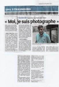 karim TATAI Strasbourg Article Dernieres Nouvelle d'Alsace 26 septembre 2014