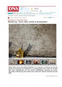 Autiste Arrtiste Karim TATAI Strasbourg DNA.fr 25 septembre 2014