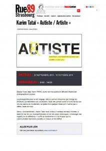 Karim TATAI Strasbourg exposition Autiste-Artiste Rue 89