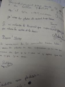 livre d'or exposition Mont St martin Autiste-Artiste Karim TATAI