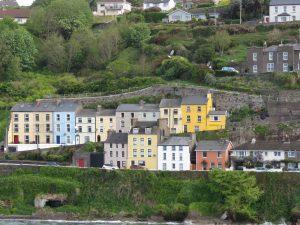 Ville de Cobh, arrivée ferry Irlande