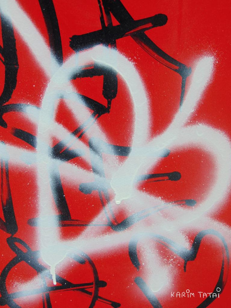 cœur grafiti rouge Karim TATAI